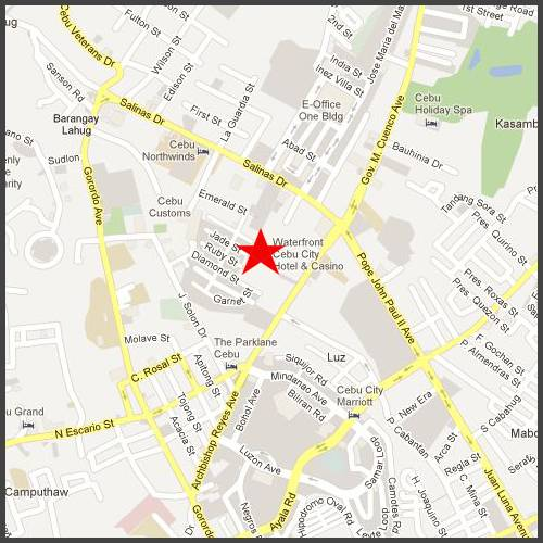 Resort Map Click To View Of Waterfront Hotel Cebu City
